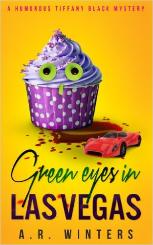 Excellent Cozy Mystery Deal - Green Eyes and cover has a cupcake with green eyes
